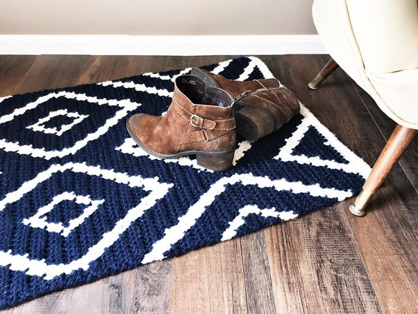 Diamond Crochet Rug