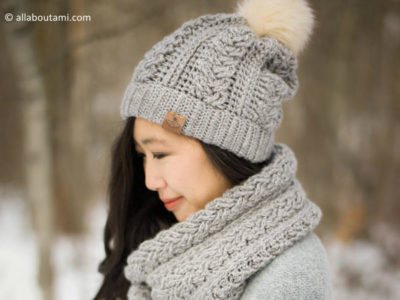 Braided Cabled Slouchy Beanie