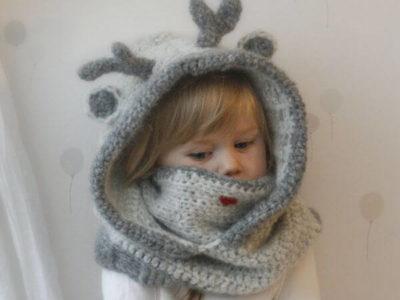 reindeer hooded cowl
