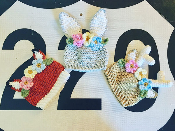 Flower Crown Animal Hats