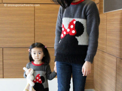 Minnie Mouse Color Block Sweater