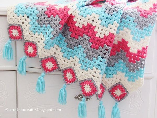 Granny Ripple Afghan Share A Pattern