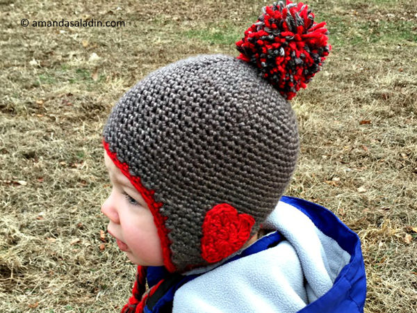 Valentine Ear Flap Hat