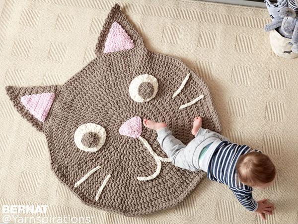 Bernat Purrrfect Crochet Play Rug
