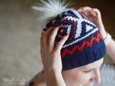Crochet Olympics Team Hat