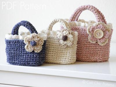 Crochet Toddler Tote Bag