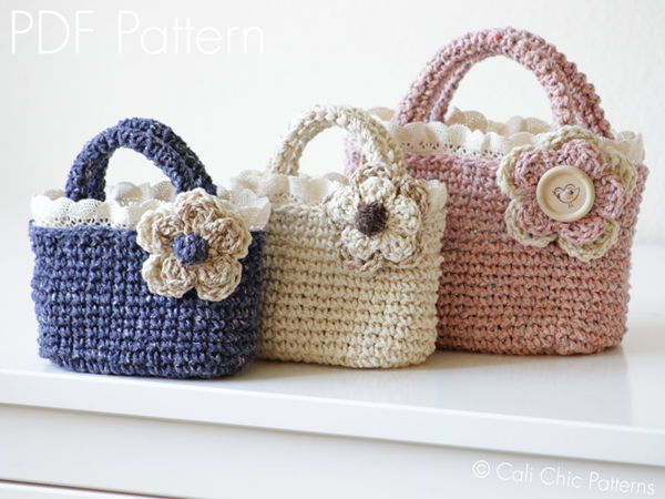 Crochet Toddler Tote Bag