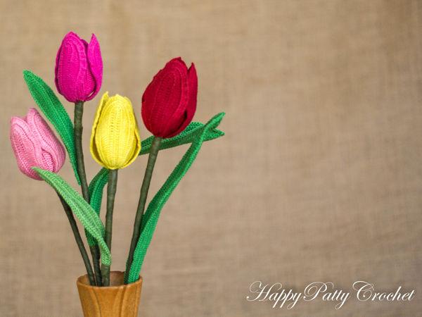 "Crochet Tulip - ""Perfect Love"" Flower"