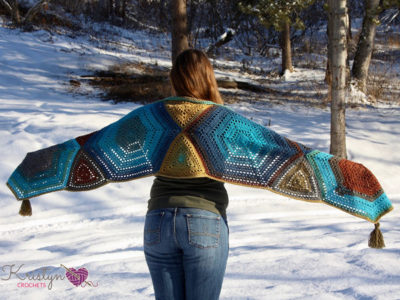 Hexagon Medley Crochet Wrap