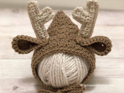 Newborn Deer Bonnet