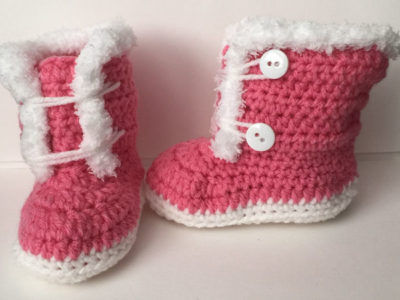 Fuzzy Trim Boots