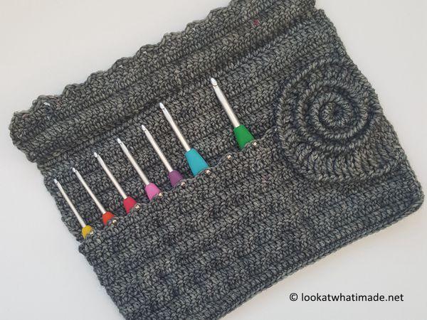Ammonite Crochet Hook Roll