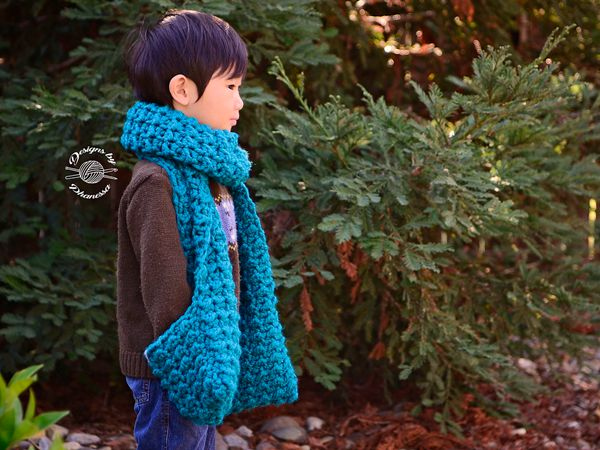 Chunky Scarf with Pockets