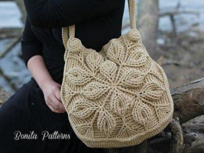 3D Embossed Garden Handbag
