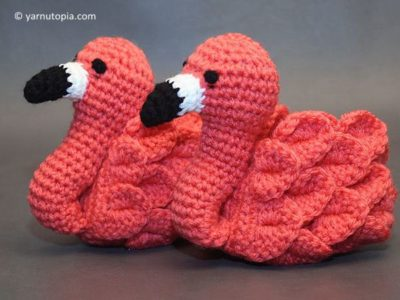 Flamingo Feet Baby Booties