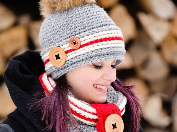 Crochet Work Sock Hat and Cowl Pattern