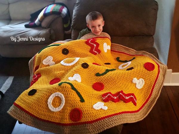 Chunky Pizza Throw Blanket