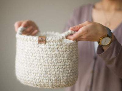 Waistcoat Crochet Basket