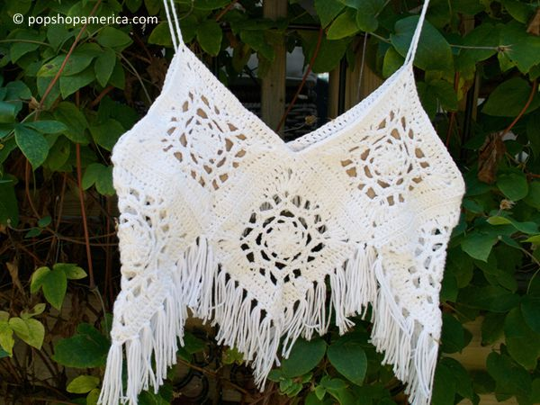 Boho Crochet Crop Top