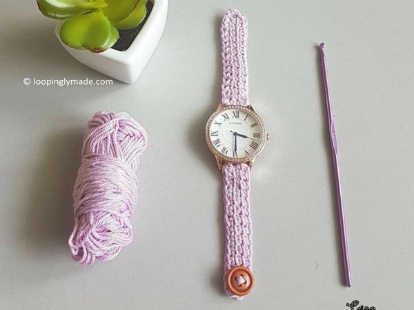 Crochet Wrist Watch Strap