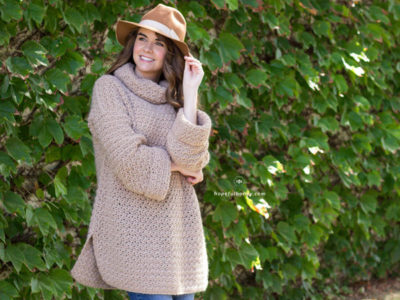 FALLOW FAWN ROLL NECK SWEATER