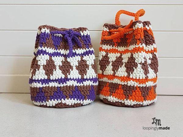 Native Print Drawstring Bag Share A Pattern