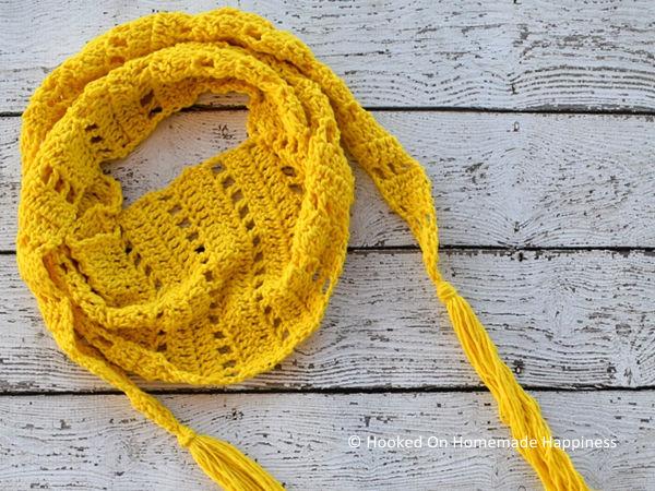 Sunshine Crochet Scarf Pattern