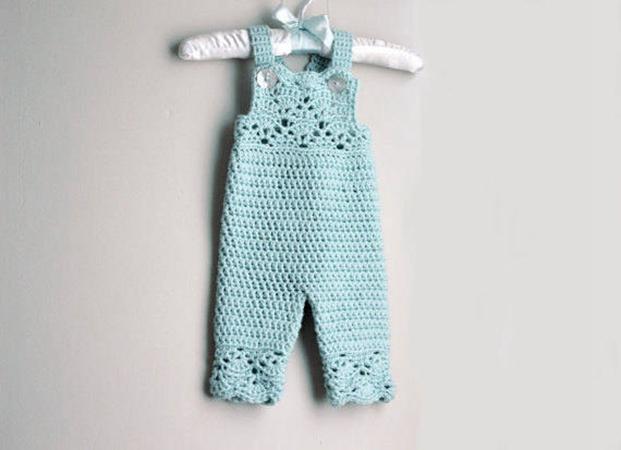 Crochet Baby Overalls Pattern