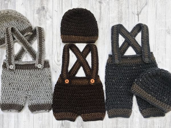 Crochet Baby Beanie and Pants Pattern