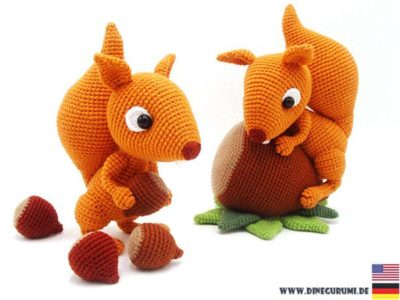 Squirrels crochet pattern amigurumi