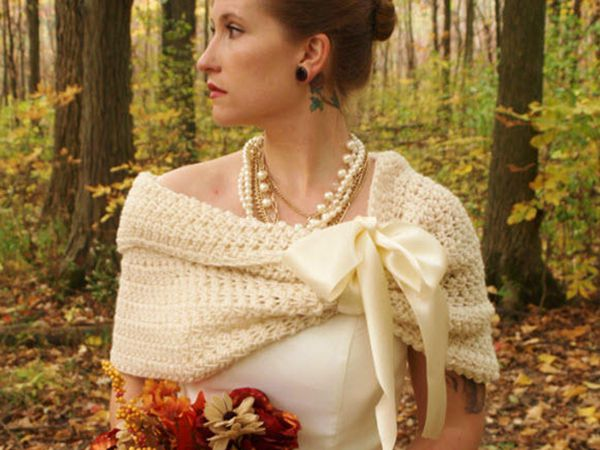 Easy Wedding Shawl