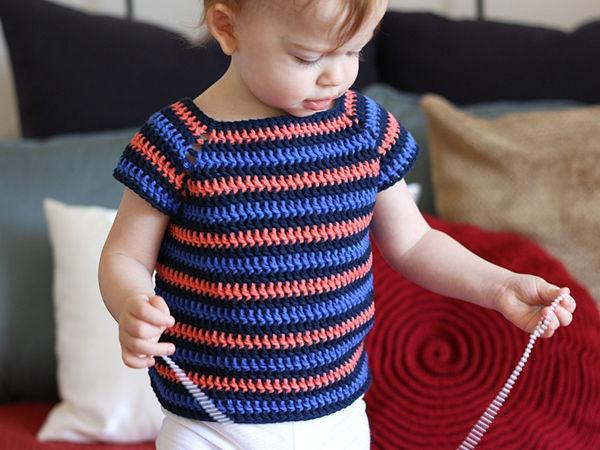 Crochet Striped Shirt