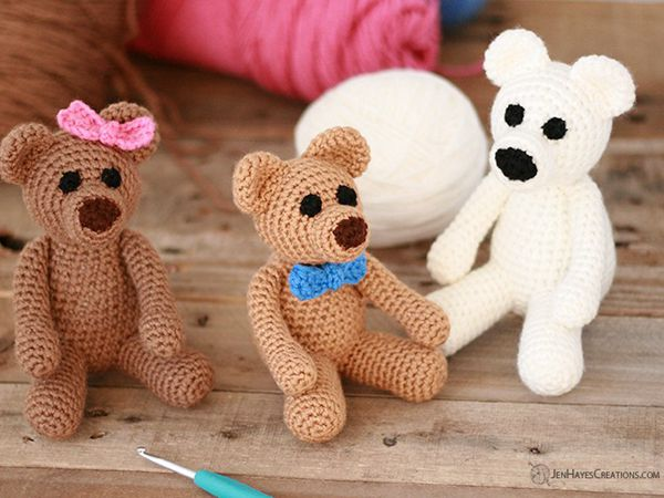 Crochet Brown Bears