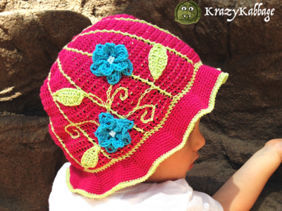 Floral Summer Sun Hat