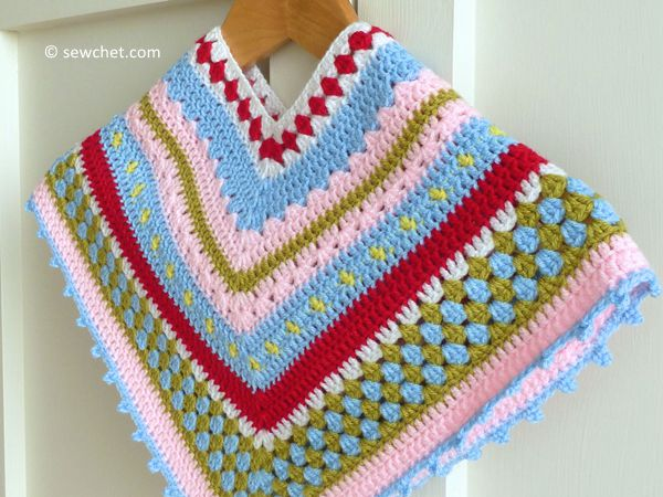 Greengate Style Baby & Toddler Girls Crochet Poncho
