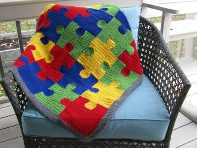 Puzzle Me Happy Blanket