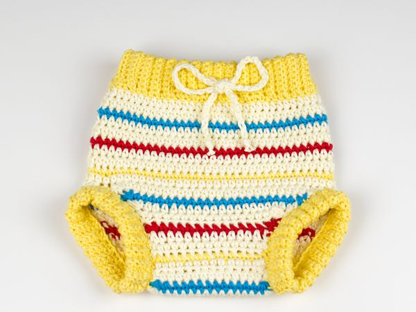 Crochet Baby Pants Retro Chic