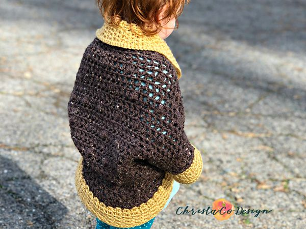 Toddler Crochet Cocoon Shrug