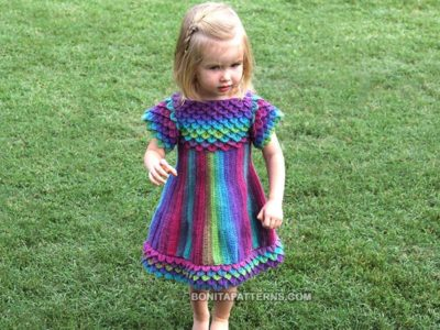 Crocodile Dragon Stitch Girly Dress
