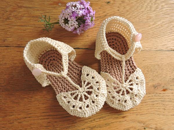 Cream Baby Sandals