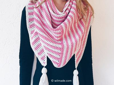 Stripe Me Shawl