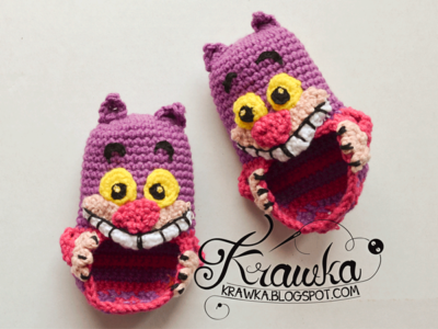 Cheshire Cat - Baby Booties Pattern