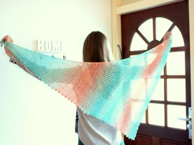 Sideways Sugar Shawl