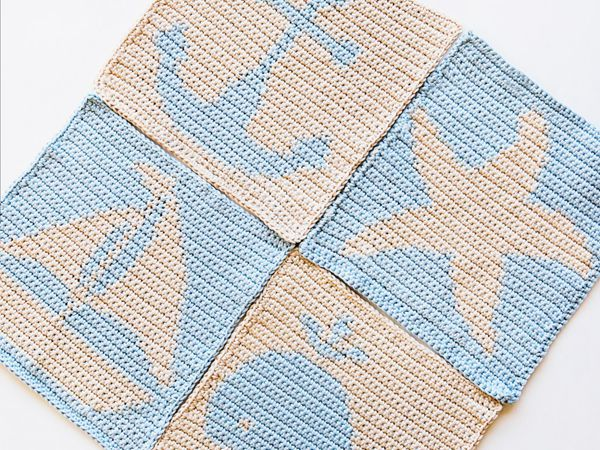 Nautical Washcloths Pattern