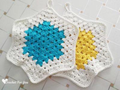 Crochet Granny Hexagon Potholder