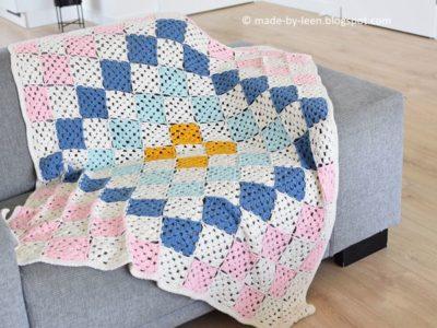 Geometric Granny Square Blanket