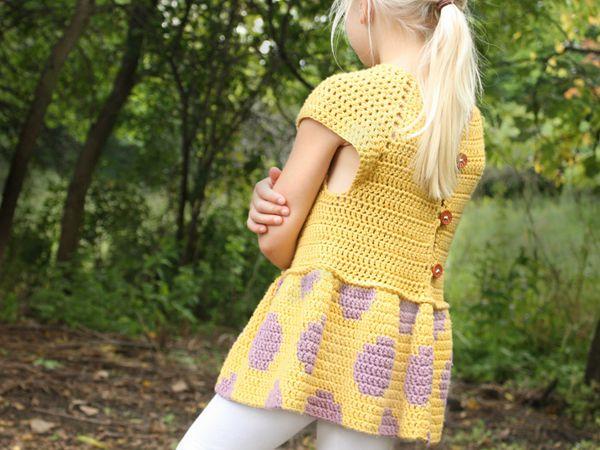 A fun, fresh crocheted sweater