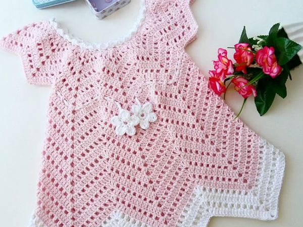 Baby Blossom crochet summer dress