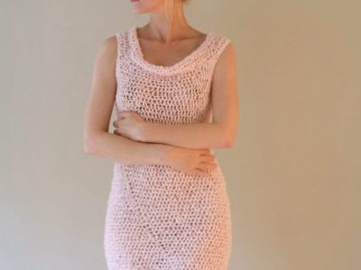 Summer Crochet Beach Mini Dress