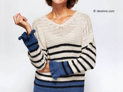 Breton Ruffle Cuff Sweater